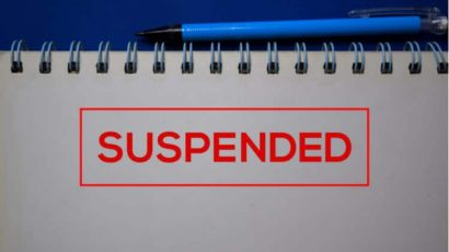 suspended notice